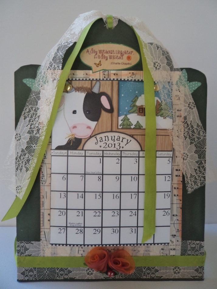 2013 Calendar animals