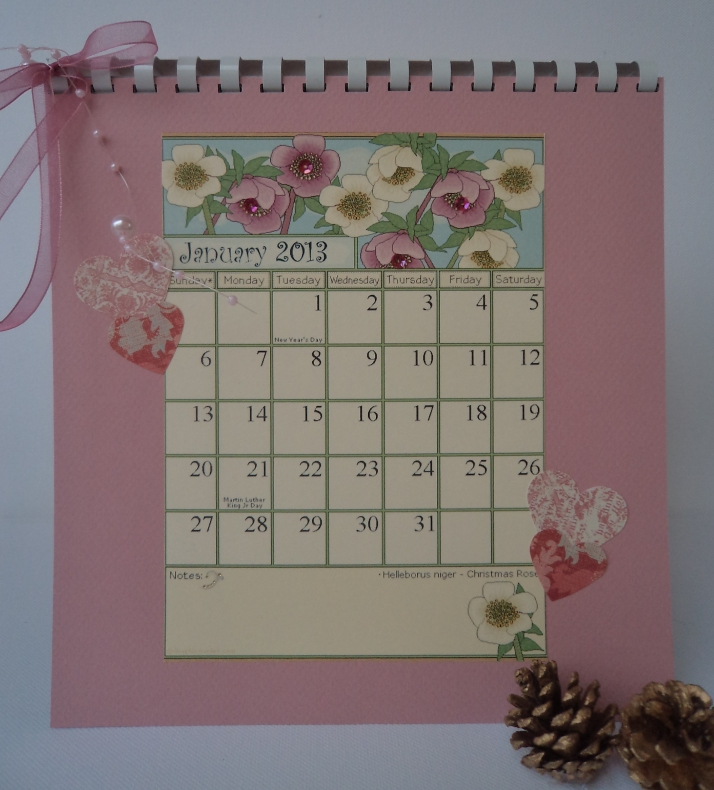2013 Calendar flowers Jan